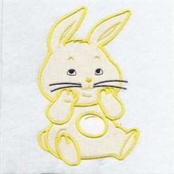 Applique Hare embroidery design