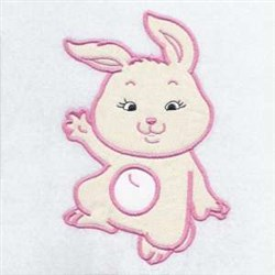 Applique Bunny Cottontail embroidery design