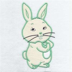 Applique Cottontail Hare embroidery design