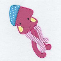 Octopus Applique Friend embroidery design