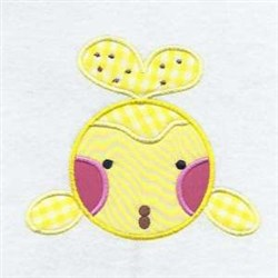 Whale Applique Friend embroidery design