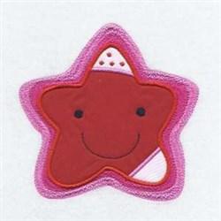 Star Applique Friend embroidery design
