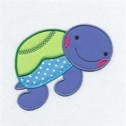 Turtle Applique Friend embroidery design