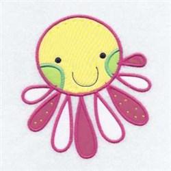Applique Octopus Friend embroidery design
