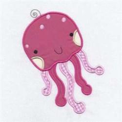 Squid Applique Friend embroidery design