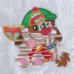 Ball Cap Puppy embroidery design