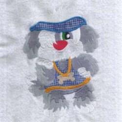 Visor Dog embroidery design