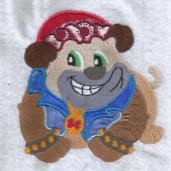 Smiley Puppy embroidery design