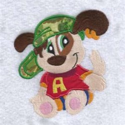 Hat Puppy embroidery design