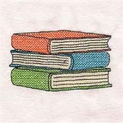 School Book Stack embroidery design