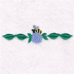 Bee Flower Border embroidery design