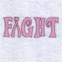 Fight Ribbon embroidery design