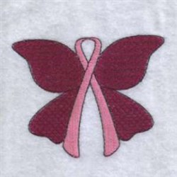Ribbon Butterfly embroidery design