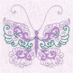 Beautiful Swirl Butterfly embroidery design