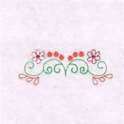 Border Flowers embroidery design