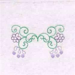 Floral Swirls Border embroidery design