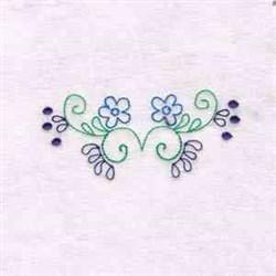 Flower Border Swirl embroidery design