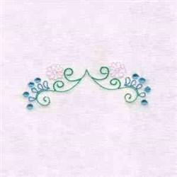 Border Floral Swirls embroidery design