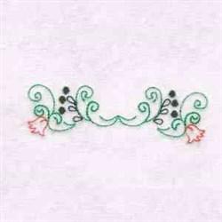 Flower Swirl Border embroidery design