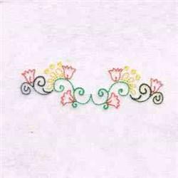 Swirl Flowers embroidery design