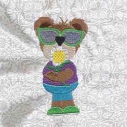 Sunflower Bear embroidery design