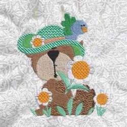 Bird Bear embroidery design