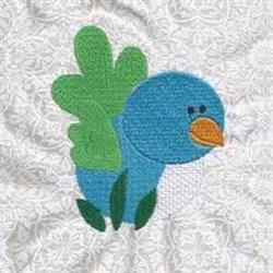 Bird Grass embroidery design