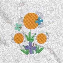 Flowers Butterflies embroidery design