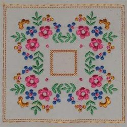 Beautiful Flowers Top embroidery design