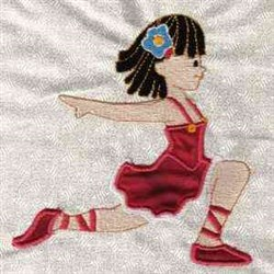 Ballerina Applique embroidery design