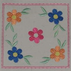 Floral Top embroidery design