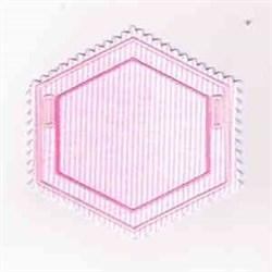 Hexagon Blank Banner embroidery design