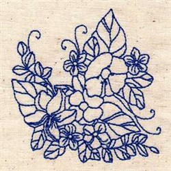 Bluework Flowers embroidery design