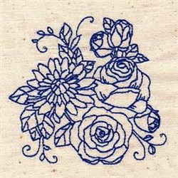 Bluework Florals embroidery design