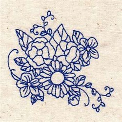 Bluework Blossoms embroidery design