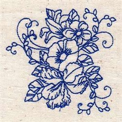 Bluework Plants embroidery design