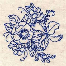 Bloom Bluework embroidery design