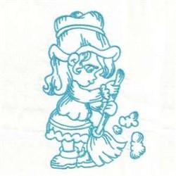 Bluework Girl Sweep embroidery design
