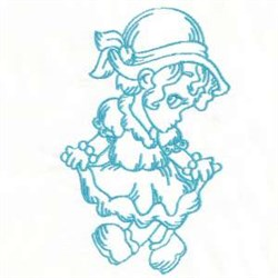 Bluework Girl embroidery design