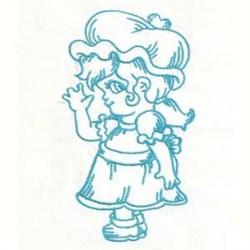 Bluework Girl Bonnet embroidery design