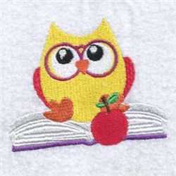Book Owl embroidery design