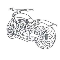 Outline Motorbike embroidery design