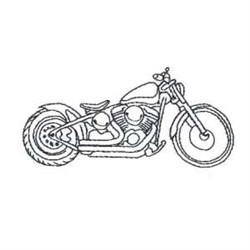 Motorbike Outline embroidery design