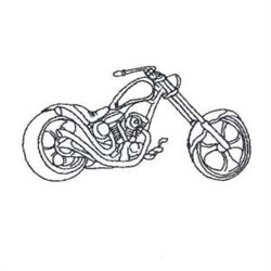 Motorcycle Bike Outline embroidery design