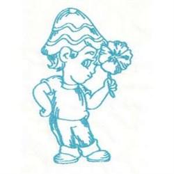 Boy Flower embroidery design