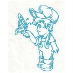 Butterfly Boy embroidery design