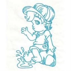 Boy Splash embroidery design