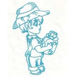 Boy Jar embroidery design