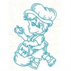Apple Boy embroidery design