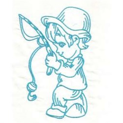 Fishing Boy embroidery design